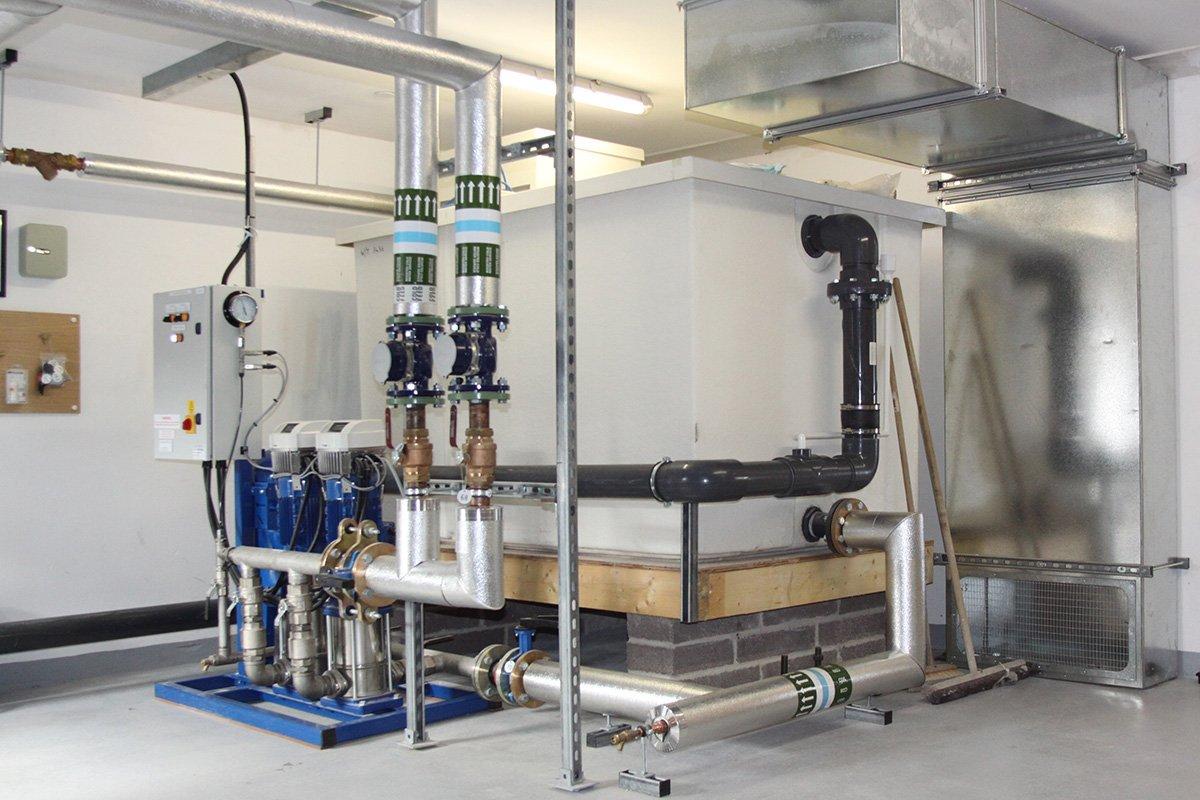 boiler system inside care home