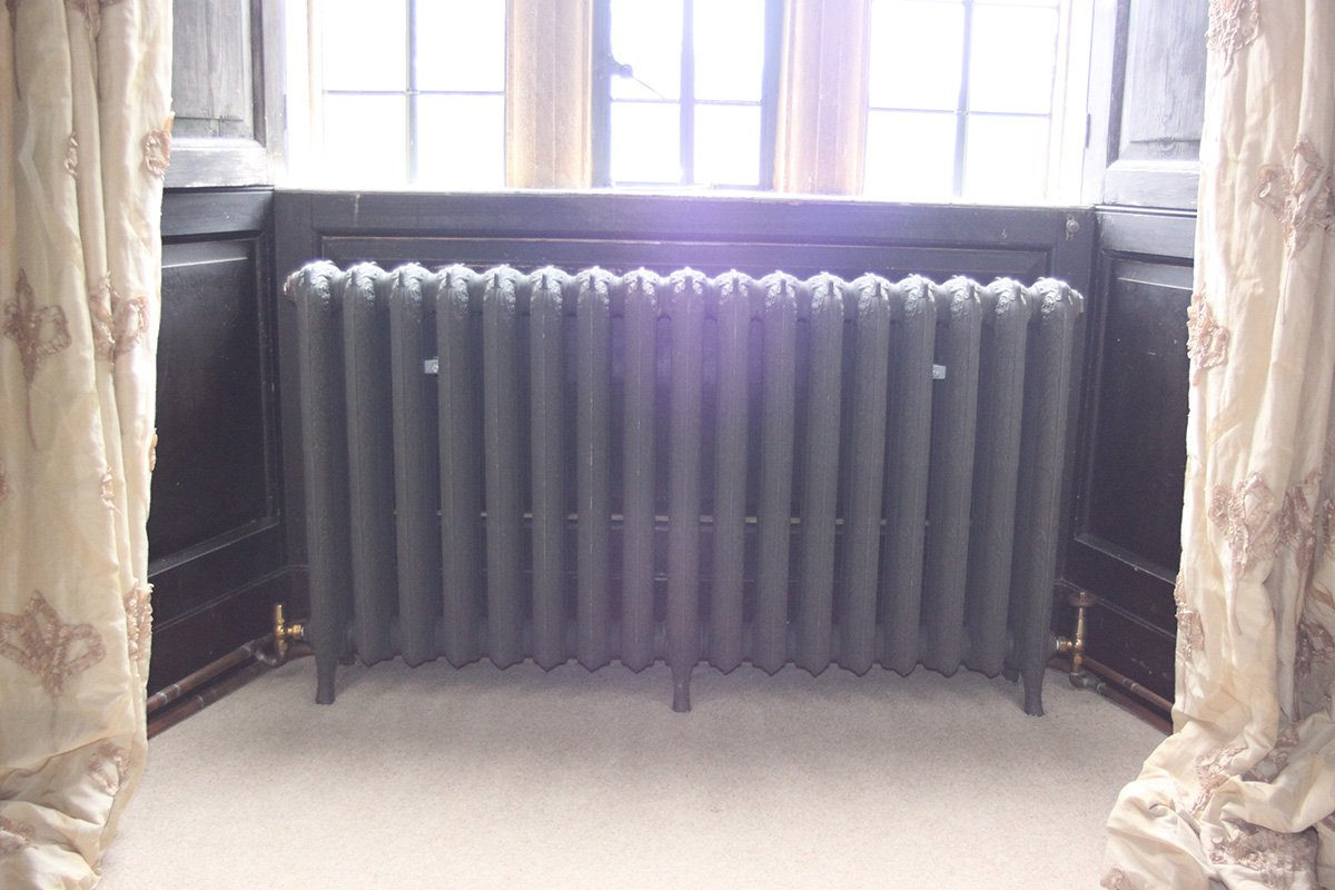 radiator underneath window