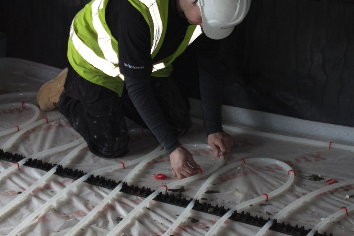 man working in residential property
