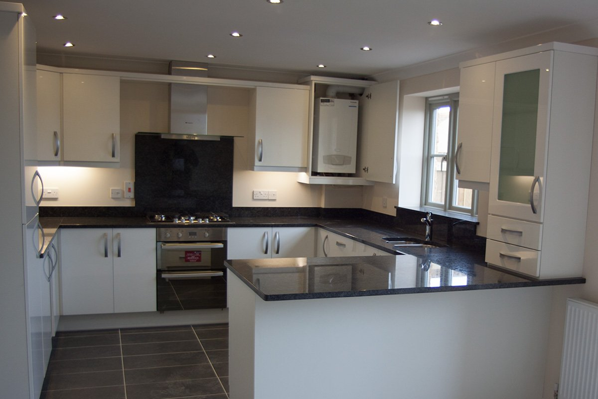 newly fitted modern kitchen