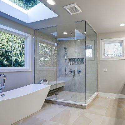 newly installed modern bathroom