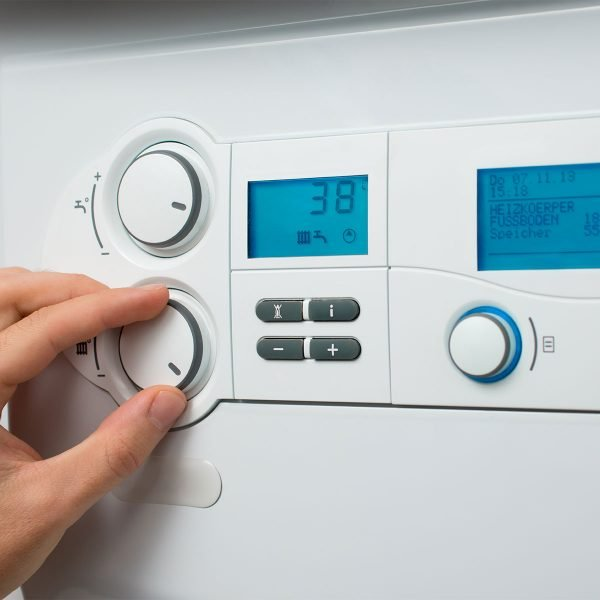 adjusting system controls of boiler
