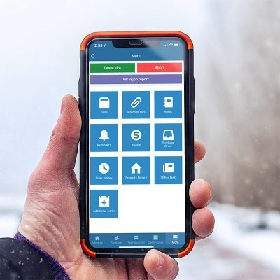 commusoft mobile interface